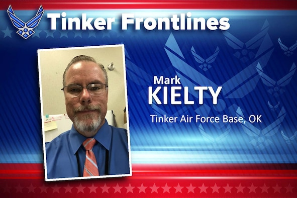 Mark Kielty is a management analyst in the Air Force Sustainment Center Director of Staff Operations office.