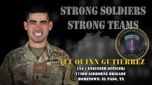 U.S. Army Europe Best Warrior 2020 Competitor: 1st Lt. Quinn Gutierrez