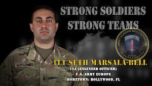 U.S. Army Europe Best Warrior 2020 Competitor: 1st Lt. Seth Marsala-Bell