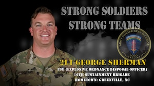 U.S. Army Europe Best Warrior 2020 Competitor: 2nd Lt. George Sherman