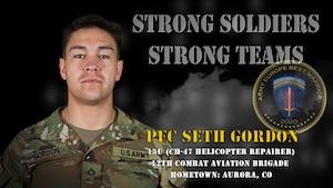 U.S. Army Europe Best Warrior 2020 Competitor: Pfc. Seth Gordon