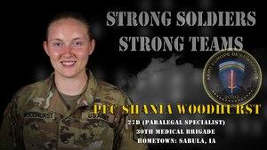 U.S. Army Europe Best Warrior 2020 Competitor: Pfc. Shania Woodhurst