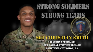 U.S. Army Europe Best Warrior 2020 Competitor: Sgt. Christian Smith