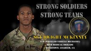 U.S. Army Europe Best Warrior 2020 Competitor: Sgt. Dwight McKinney