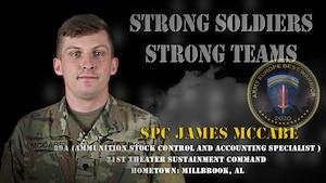 U.S. Army Europe Best Warrior 2020 Competitor: Spc. James McCabe