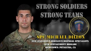 U.S. Army Europe Best Warrior 2020 Competitor: Spc. Michael Dillon