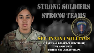 U.S. Army Europe Best Warrior 2020 Competitor: Spc. Tynina Williams