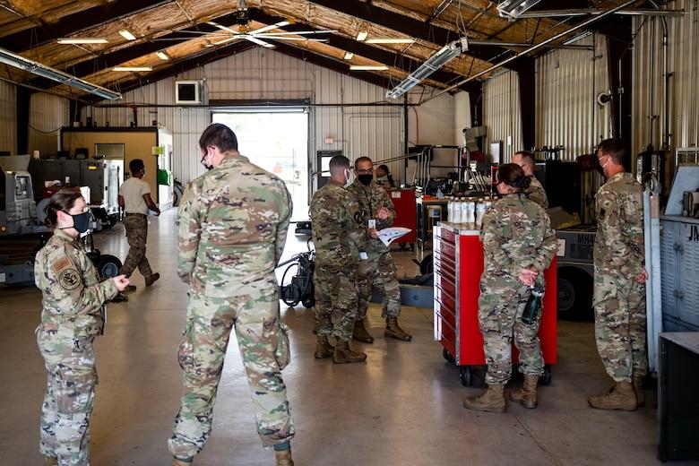 Photo of Airmen briefing LATT Airmen.