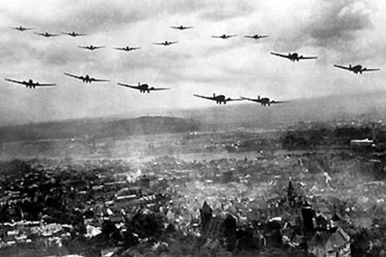 German planes fly over Poland,