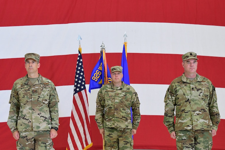Lt. Col. Michael Kirk assumed command of the 926th Security Forces Squadron, during a modest Assumption of Command ceremony, June 24, 2020, at Nellis Air Force Base, Nevada.