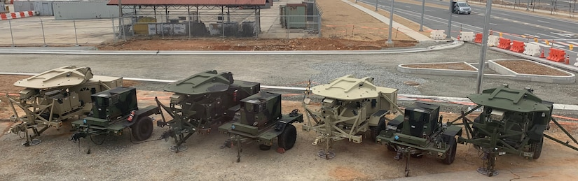 Photo of a variety of Army systems that Tobyhanna repairs