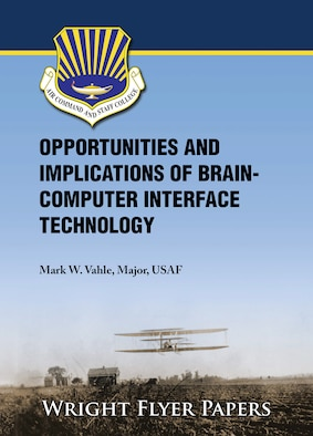 Cover of Wright Flyer 75 which reads Opportunities and Implications of Brain-computer Interface Technology