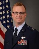 Official photo of 717th Air Base Squadron commander