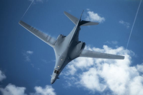 B-1s Conduct Bilateral Training with Koku-Jieitai in Vicinity of Japan