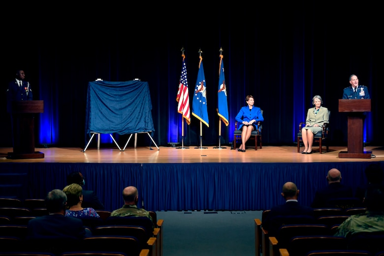Air Force Chief of Staff Gen. David L. Goldfein speaks during the official portrait unveiling ceremony for former Secretary of the Air Force Heather Wilson at the Pentagon in Arlington, Va., July 28, 2020. (U.S. Air Force photo by Wayne Clark)