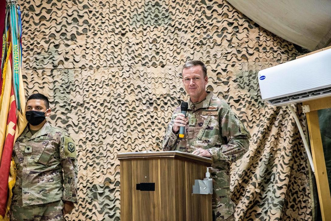 Transfer of Authority at Al Asad Air Base