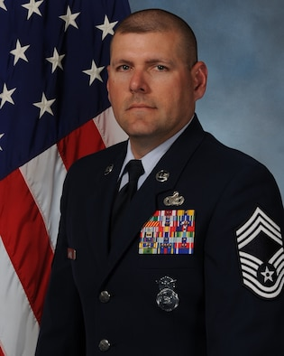 Official photo of CMSgt Anthony L Blum