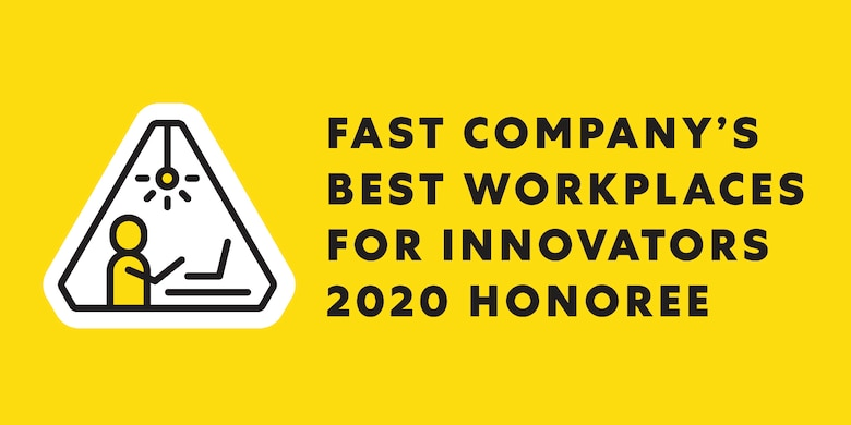 AFWERX came in at number 16 on Fast Company's Best Workplaces for Innovators 2020 list. Through AFWERX, progress has been made through a variety of initiatives including AFWERX Challenge, Air Force Ventures and the Air Force Small Business Innovation Research and Small Business Technology Transfer Open Topic process, grassroots Spark Cells, and culture change campaigns. (Courtesy photo)