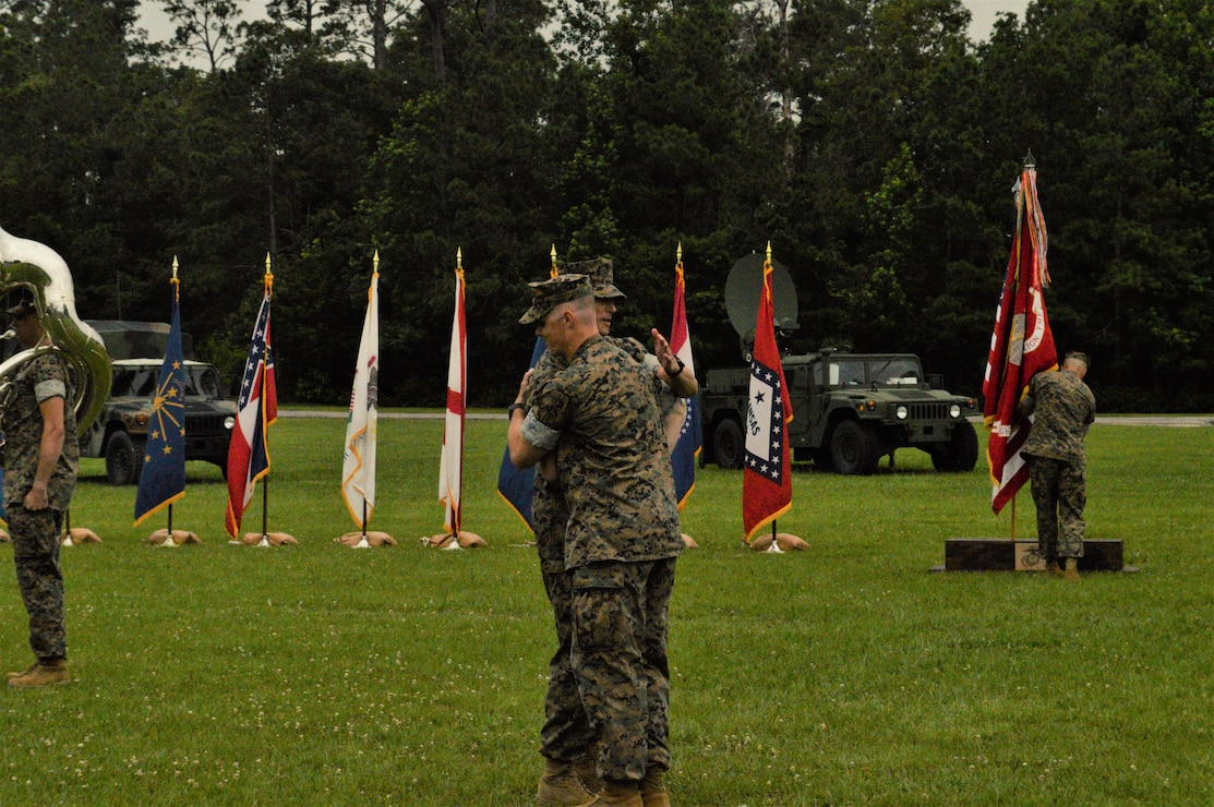 8th Comm Bn Change of Command Ceremony