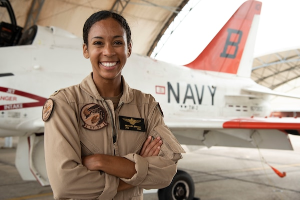 Lt. j.g. Madeline G. Swegle is the U.S. Navy's first Black female tactical jet aviator.