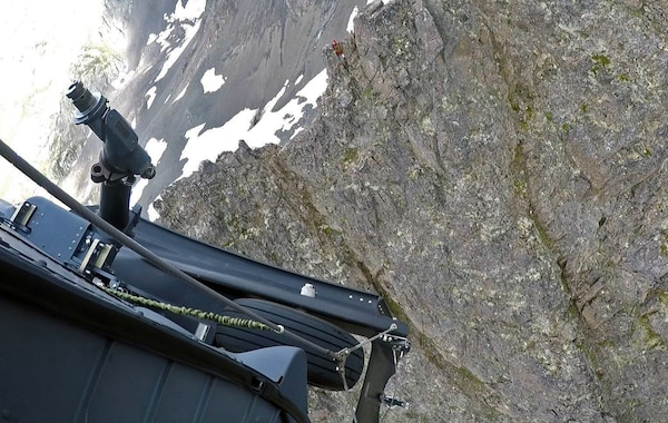 An Alaska Air National Guard HH-60G Pave Hawk helicopter and aircrew assigned to the 210th Rescue Squadron, with pararescuemen aboard from the 212th Rescue Squadron saved a distressed hiker on July 26, 2020, at Mount Williwaw east of Anchorage. Photo from the previous rescue on Mount Williwaw.