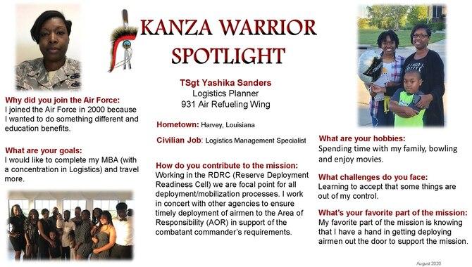 August KANZA Warrior Spotlight