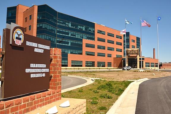The exterior of the DLA Aviation headquarters building