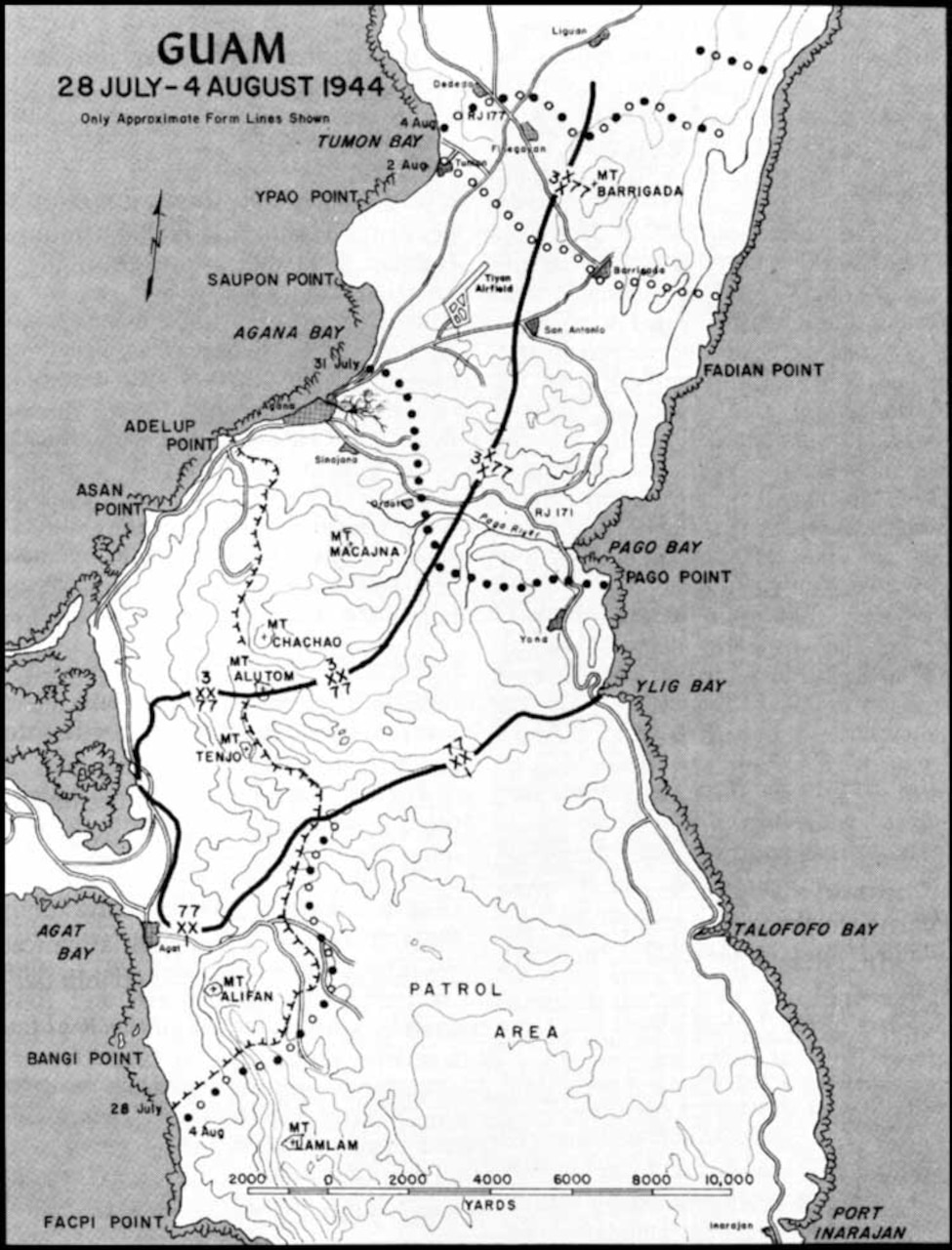 A map of Guam.