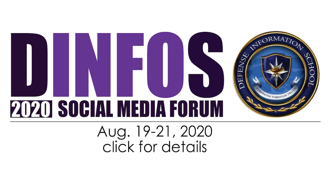 Advertisement for DINFOS Social Media Forum