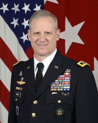 U.S. Army Lt. Gen. Scott D. Berrier, Assistant Chief of Staff, G2 (Army Intelligence), poses for a command portrait in the Army portrait studio at the Pentagon in Arlington, Va., Mar. 7, 2018. (U.S. Army photo by Monica King)