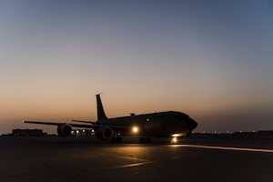 379th EAMXS members prepare KC-135 Stratotanker for mission