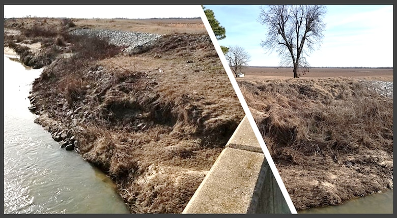 IN THE PHOTO, is a sample of the erosion the project will address.