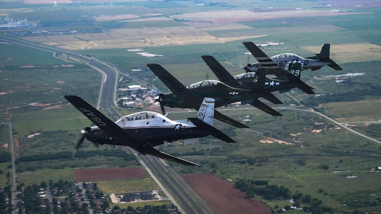 80th FTW pilots fly in formation over North Texas