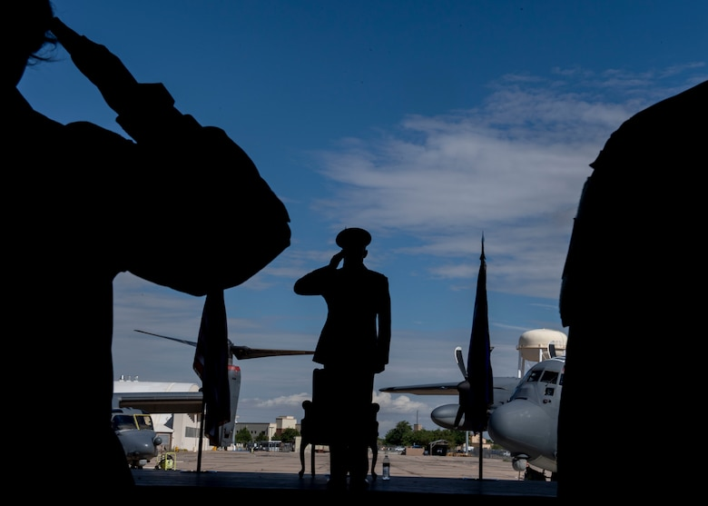 Wing commander renders his final salute to the Airmen