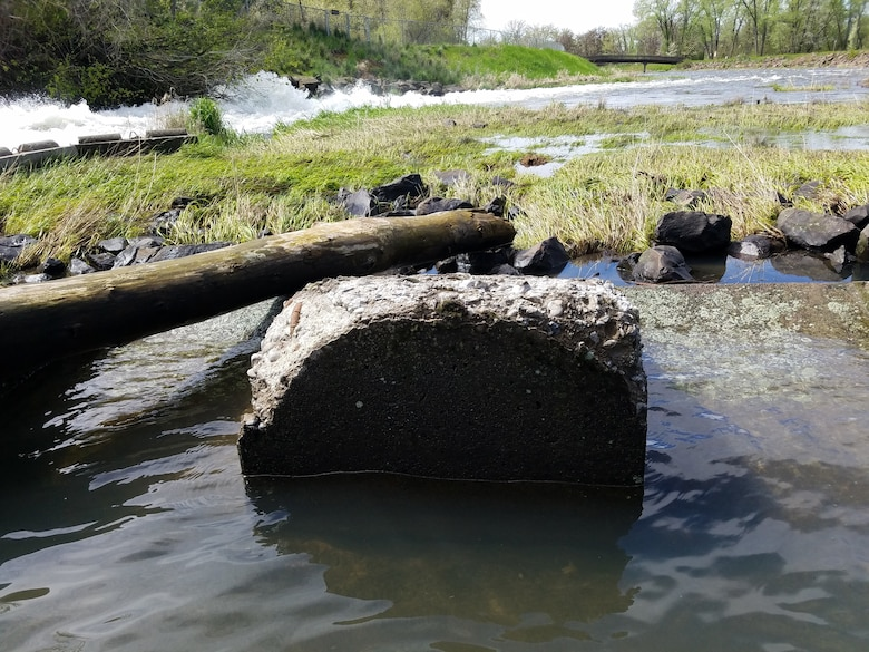 """""""The current diffuser blocks are original to the dam, which was completed in 1942. While the blocks were utilized every year for the past 78 years, they have sustained freeze-thaw damage over the years. The likely culprit for their current distress is the method in which they were constructed,"""" Natural Resources Specialist Jeremy Nguyen said."""