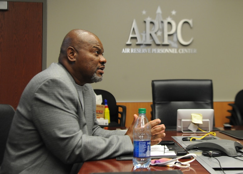 G. Lee Floyd, Air Force Reserve Command chief diversity officer, facilitates virtual Diversity & Inclusion Awareness training and guided discussions about racial relations for Headquarters Air Reserve Personnel Center leaders July 28, 2020. Due to COVID-19 related requirements, many of the senior level civilians and officers and enlisted members in attendance participated virtually. (U.S. Air Force photo by Master Sgt. Leisa Grant)