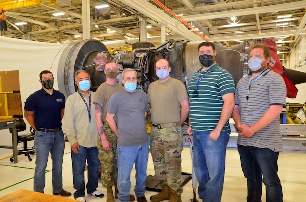 Group photo of Air Force Sustainment Center personnel