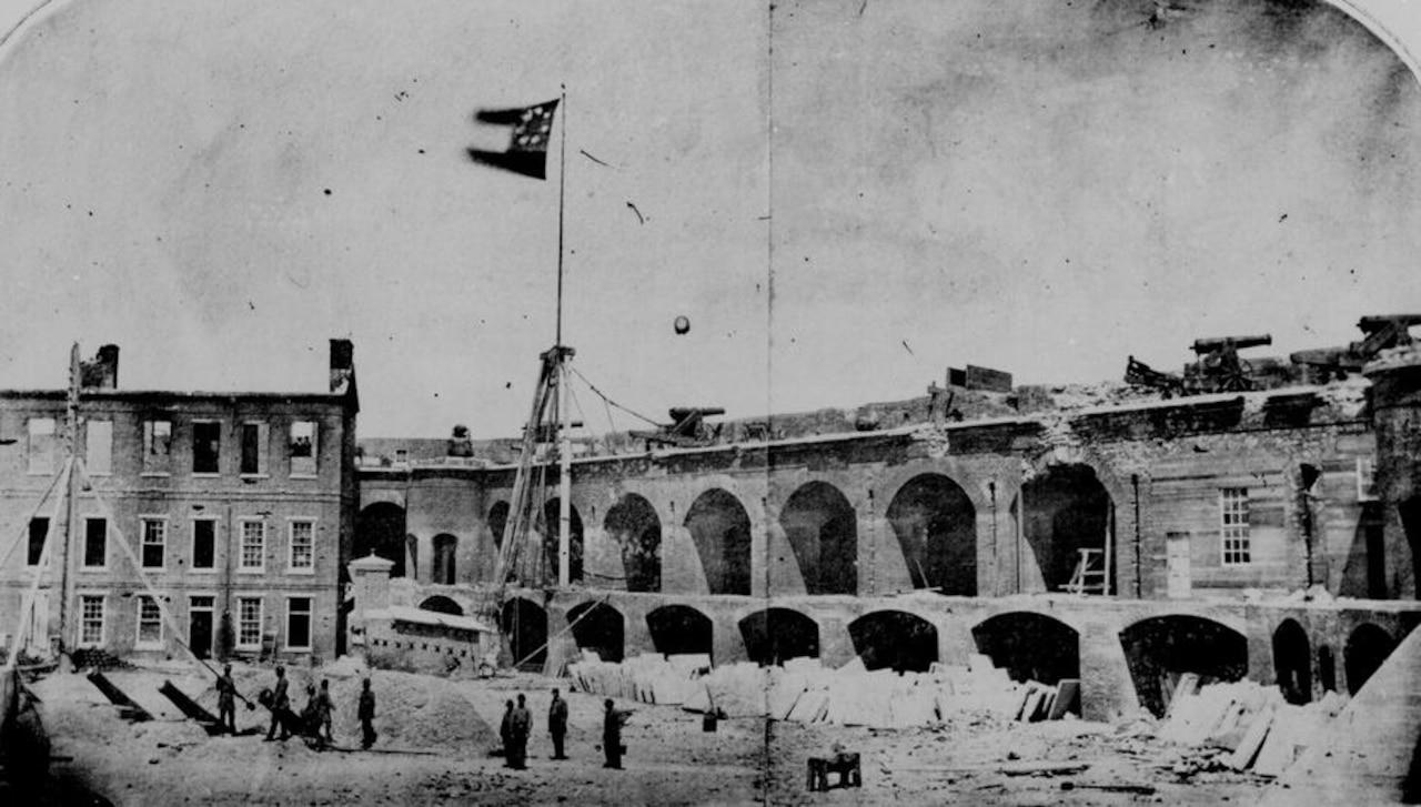 A Civil War-era photograph of a southern fort.