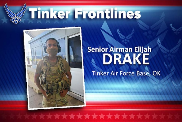 Senior Airman Elijah Drake is a vehicle search area member with the 72nd Security Forces Squadron and has been in the Air Force for two and a half years.