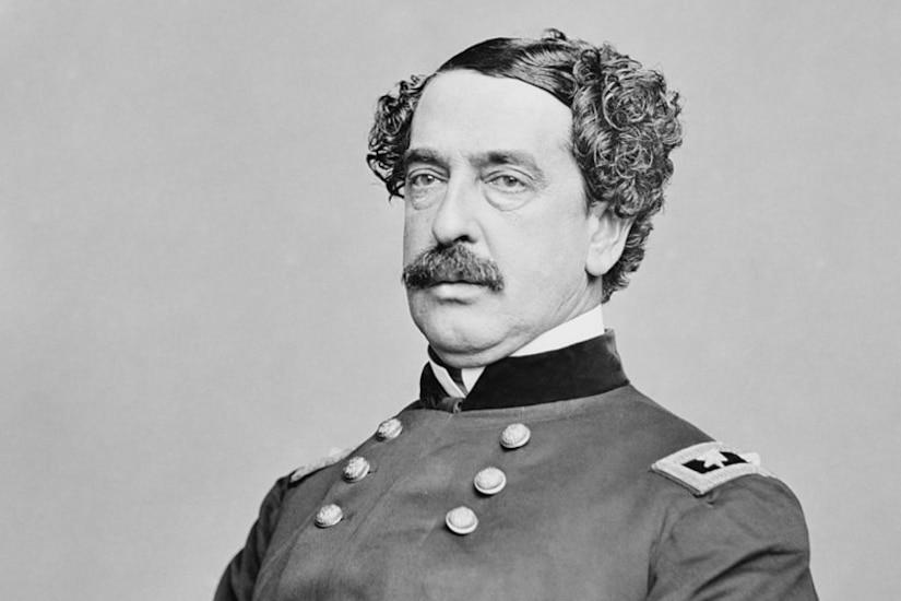 A Civil War general poses for a portrait.