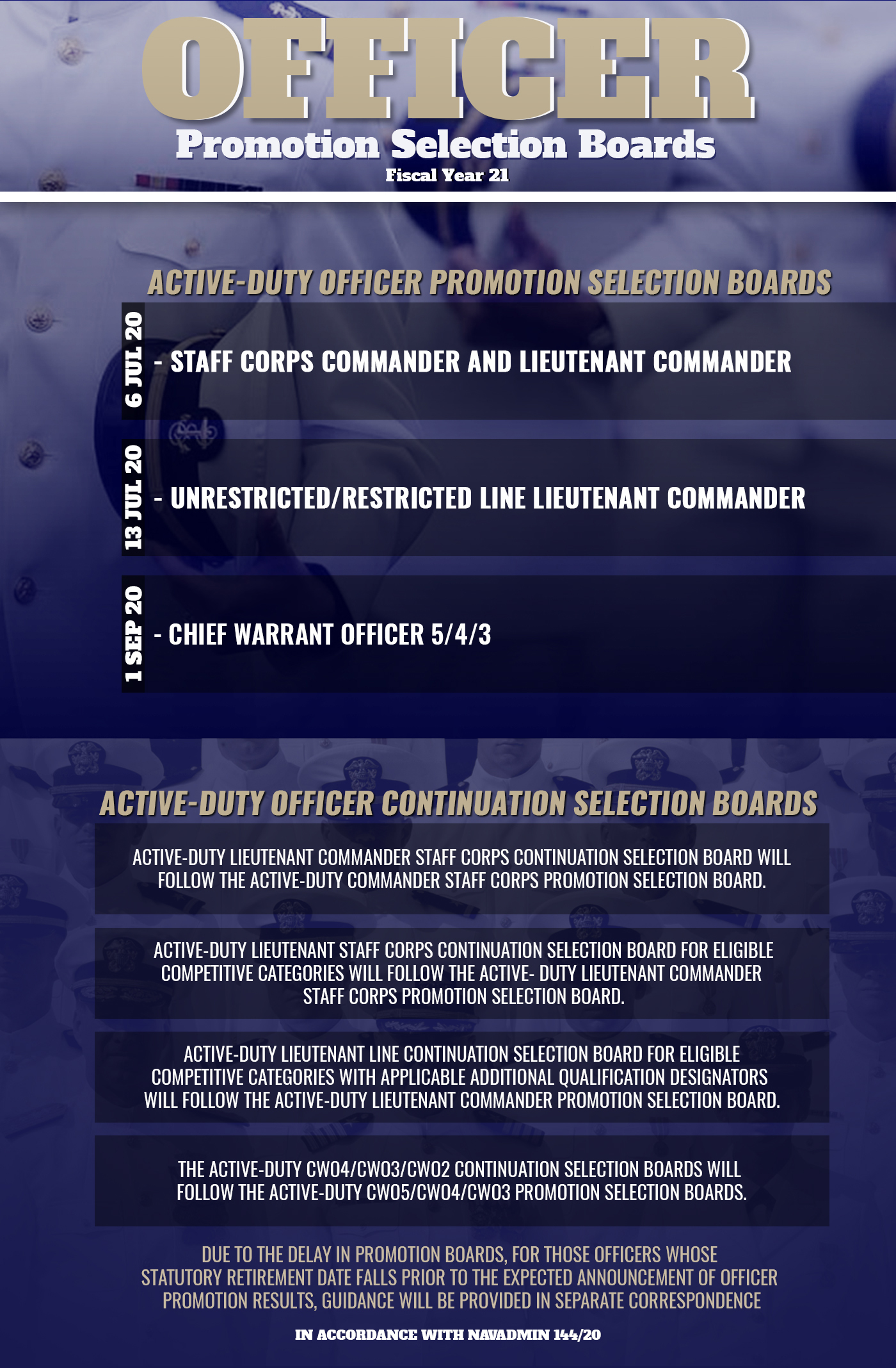 Officer promotion infographics