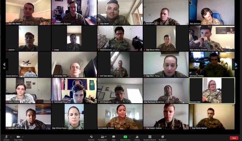 An Airman Leadership School class at Dover Air