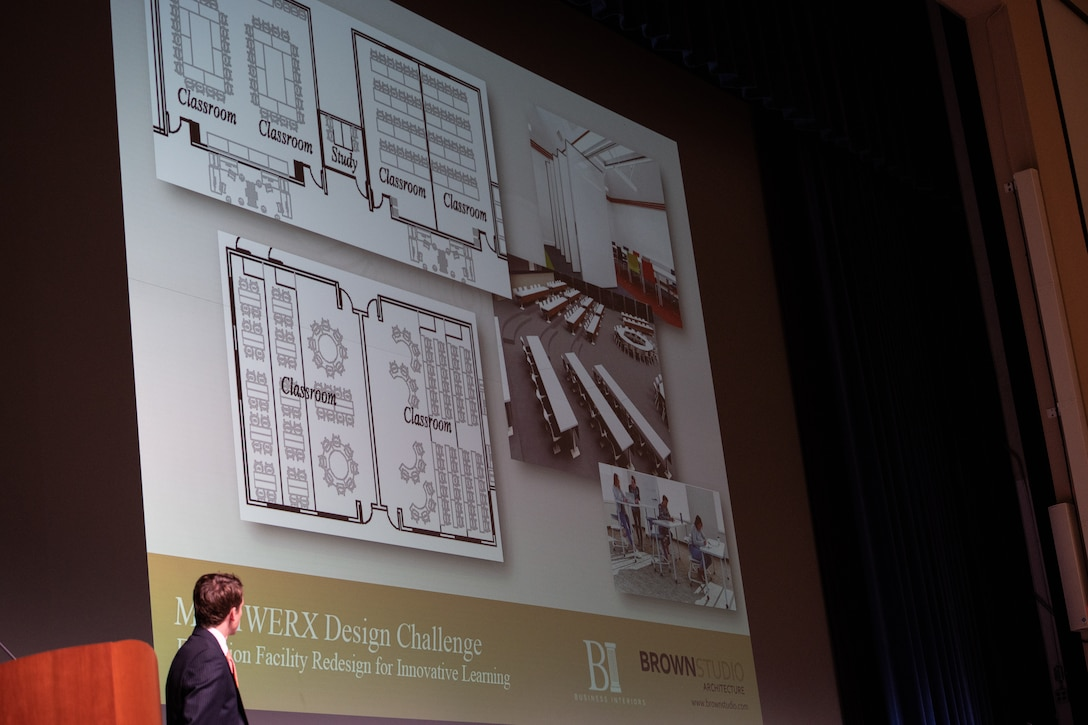 Brown studio Architecture presents their ideas during the MGMWERX and Air University design challenge.
