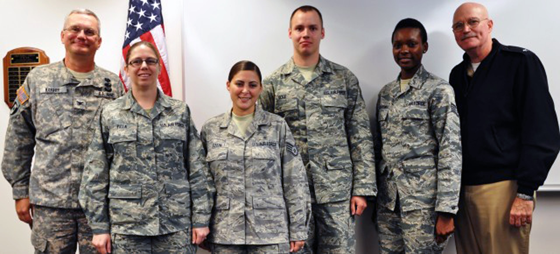 The first Medical Education and Training Campus graduates were four Air Force students who completed a two-week pharmacy craftsman course that was required for advancement. The course was previously taught at Sheppard Air Force Base in Wichita Falls, Texas, and became a joint-service course following the move to METC.