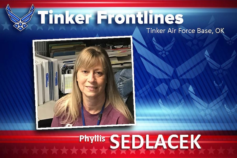 Phyllis J. Sedlacek, a management and program analyst in the 76th Propulsion Maintenance Group, plays a vital role in providing assistance and guidance to group leadership with regard to employee hiring.  Her efforts ensure that the 76th PMXG hires the appropriate amount of personnel.