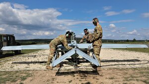 1st Cavalry Division RQ7B Shadow drone launch