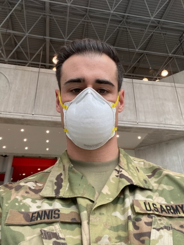 1Lt. James Ennis, resident of Salem, N.H. just completed a deployment to combat COVID-19 at Elmhurst Hospital-Queens, as part of an Urban Augmentation Medical Task Force with the US Army Reserve.