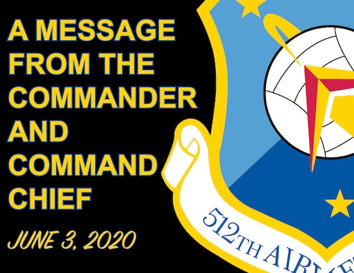 A message from the commander and command chief