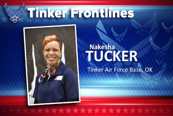 Nakesha Tucker is the Military Clothing and Sales manager and has worked in this store for five years.