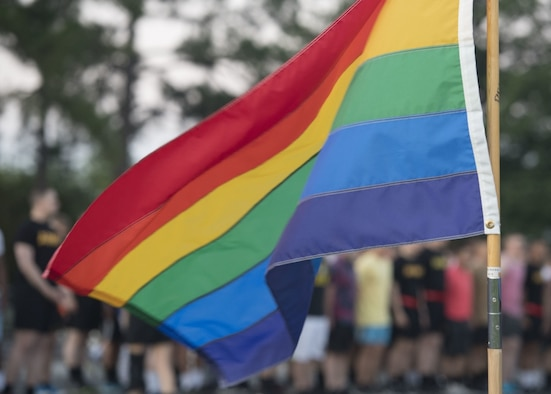 Celebrating and recognizing the diversity of both civilian and service members across the Department of Defense, June is Pride Month. The rainbow flag represents the diversity and social movement of LGBTQ community. (U.S. Air Force photo/Airman 1st Class Monica Roybal)